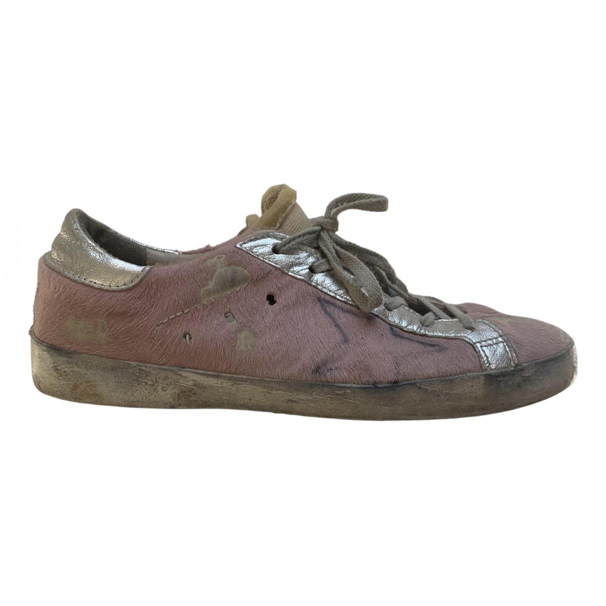 Golden Goose Starter Sneakers in  Rosa Kalbsleder in Pony-Optik