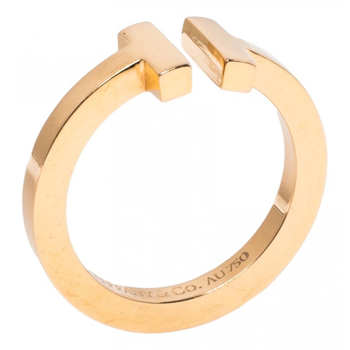 Tiffany & Co - Bague Tiffany T pour femme en or rose
