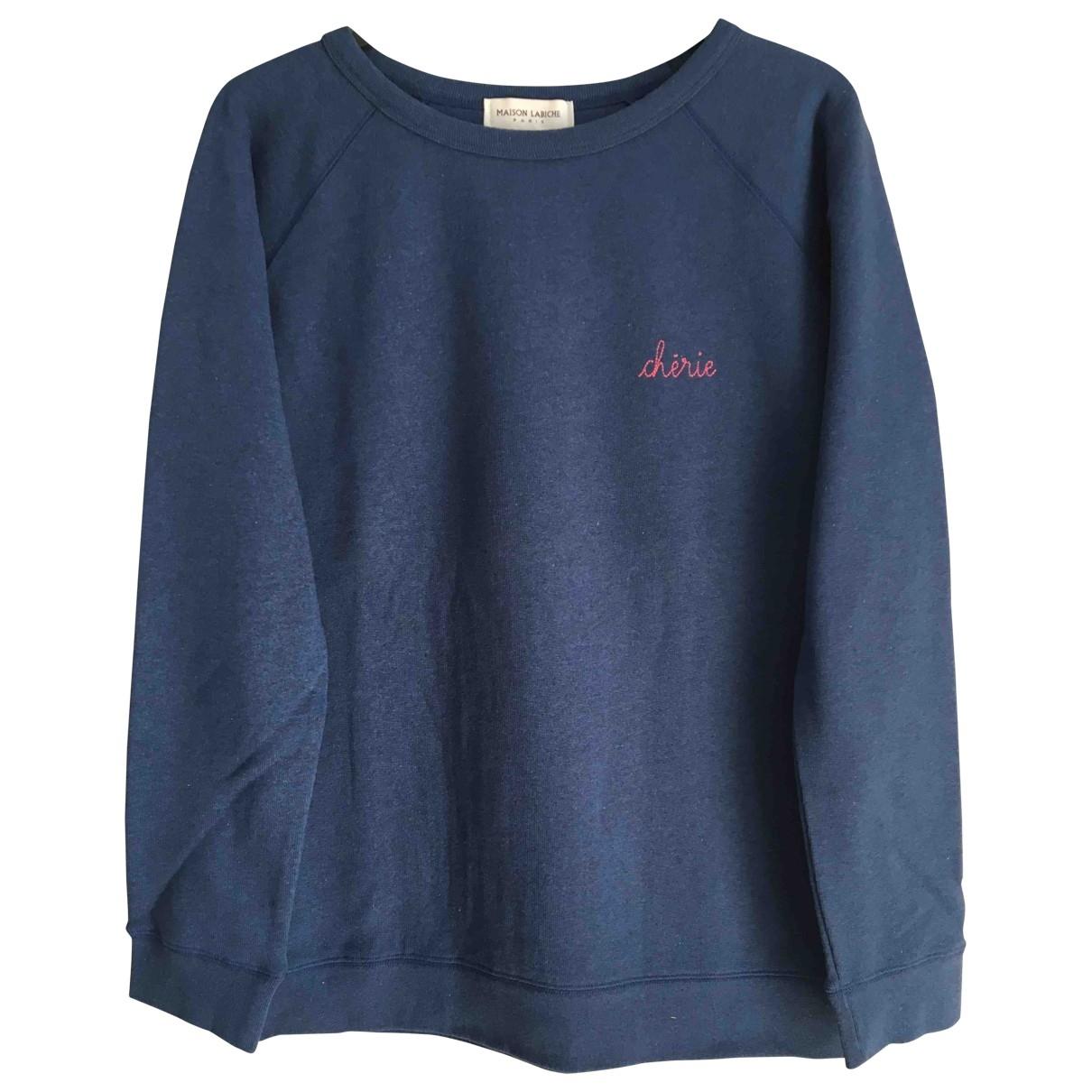 Maison Labiche - Pull   pour femme en coton - bleu