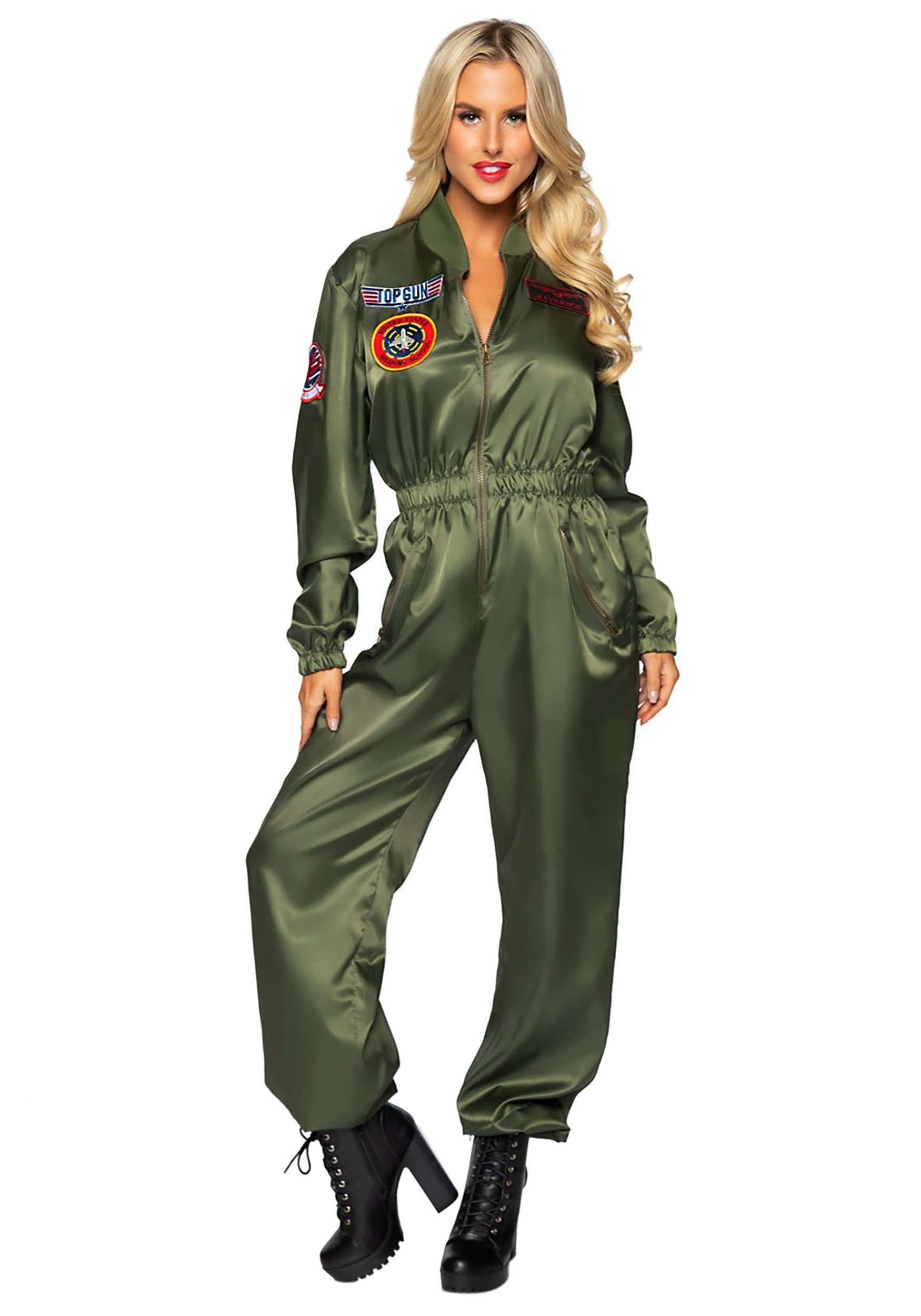 Womens Top Gun Womens Flight Suit Costume