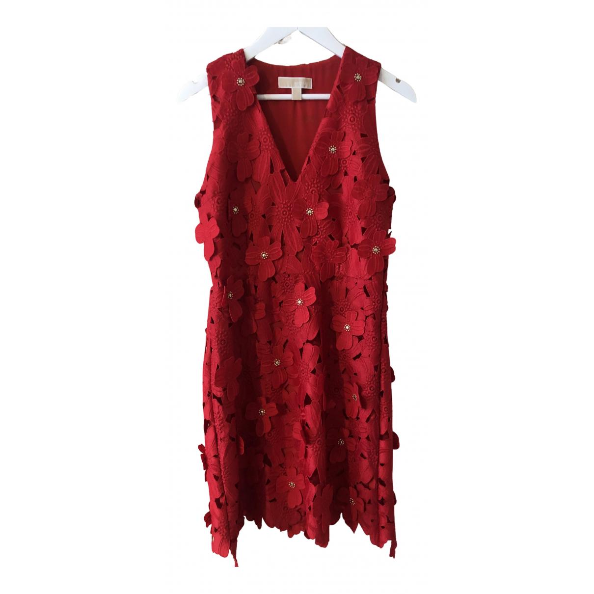 Michael Kors - Robe   pour femme en dentelle - rouge