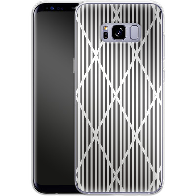 Samsung Galaxy S8 Plus Silikon Handyhuelle - Black Diamonds von caseable Designs
