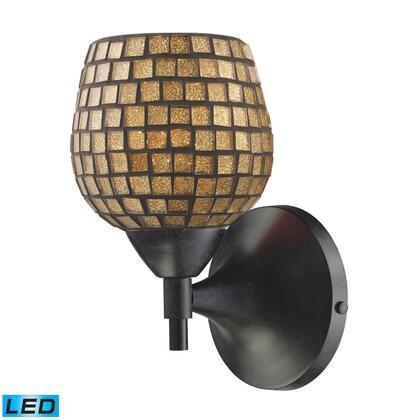 10150/1DR-GLD-LED Celina 1-Light Sconce in Dark Rust with Gold Glass -