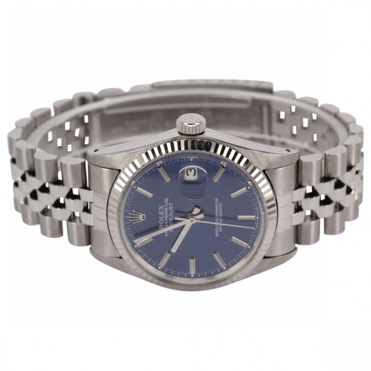 Rolex Datejust 36mm Blue Steel watch for Men \N