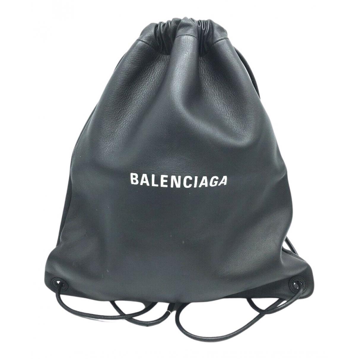 Balenciaga \N Rucksaecke in  Schwarz Leder