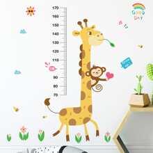 Kids Cartoon Graphic Height Measure Wall Sticker
