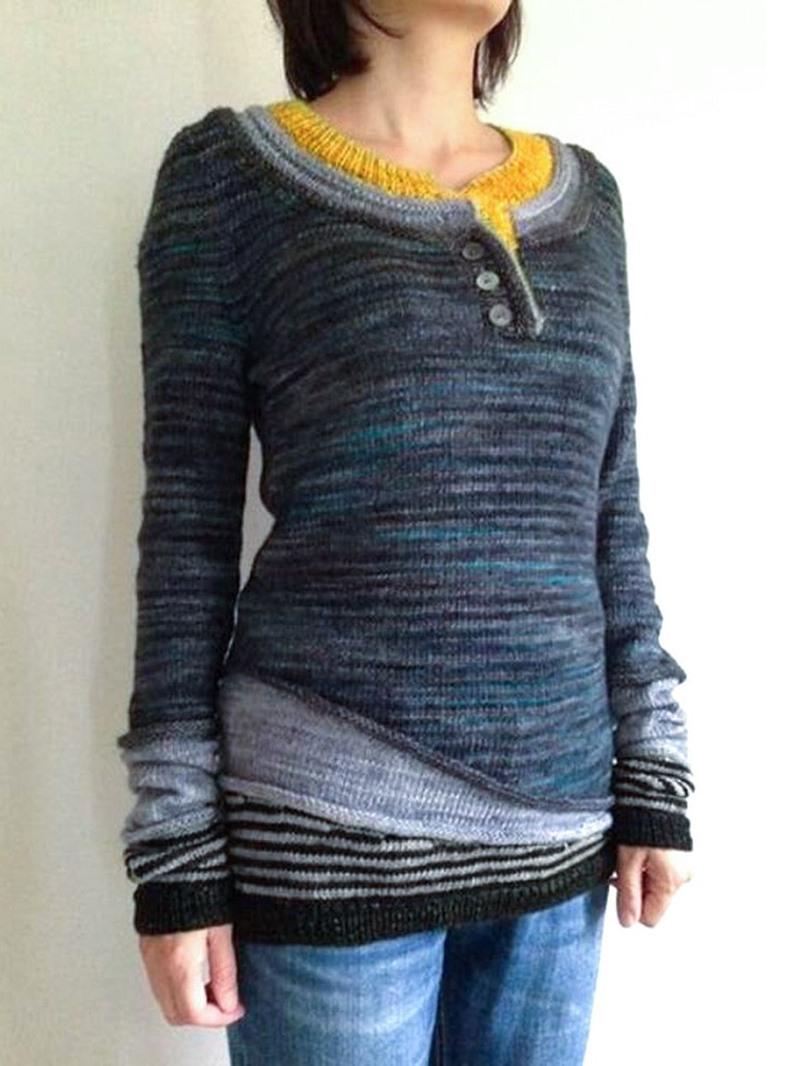 Ericdress Regular Casual Straight Standard Sweater