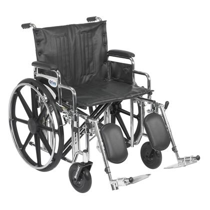 std22dda-elr Sentra Extra Heavy Duty Wheelchair  Detachable Desk Arms  Elevating Leg Rests  22