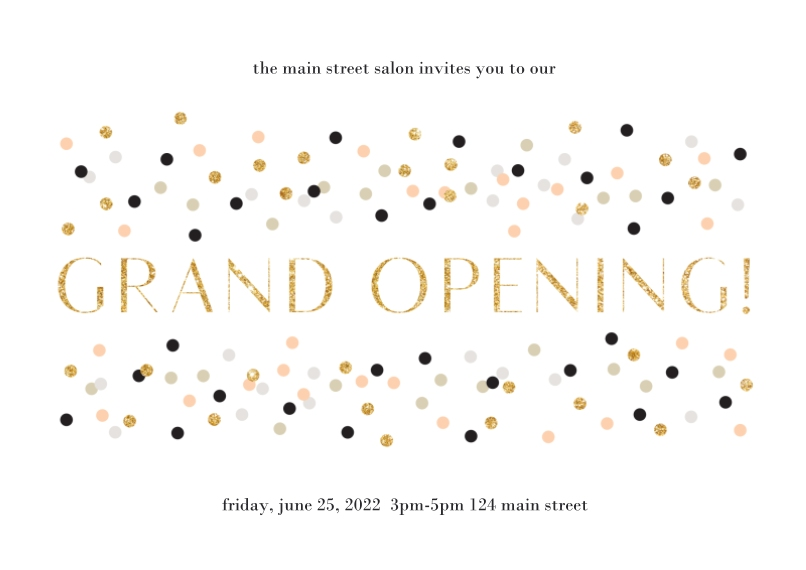 Welcome Flat Business Greeting Cards, Business Printing -Grand Opening
