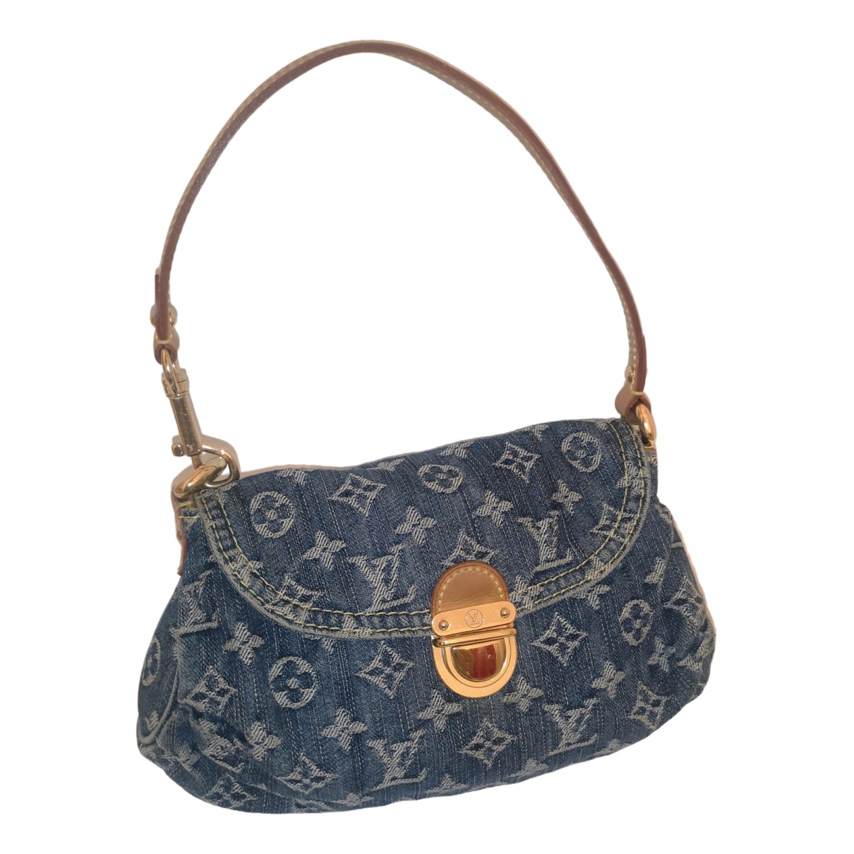 Louis Vuitton Pleaty Blue Denim - Jeans handbag for Women \N