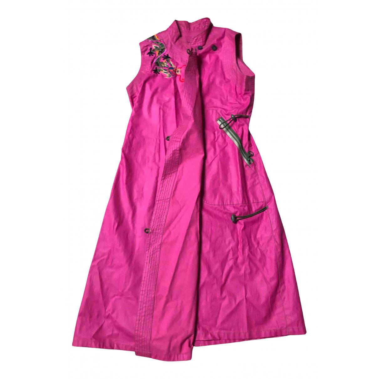 Maharishi \N Kleid in  Rosa Baumwolle