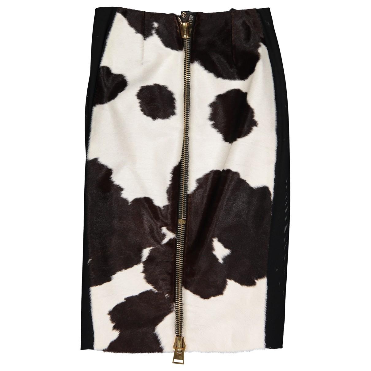 Mini falda de Piel de potro de imitacion Tom Ford