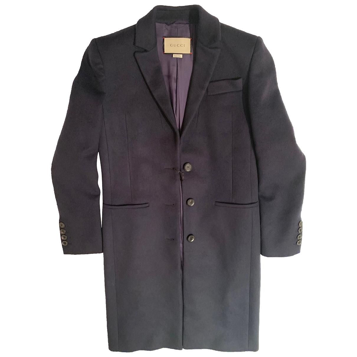Gucci - Manteau   pour femme en laine - bleu
