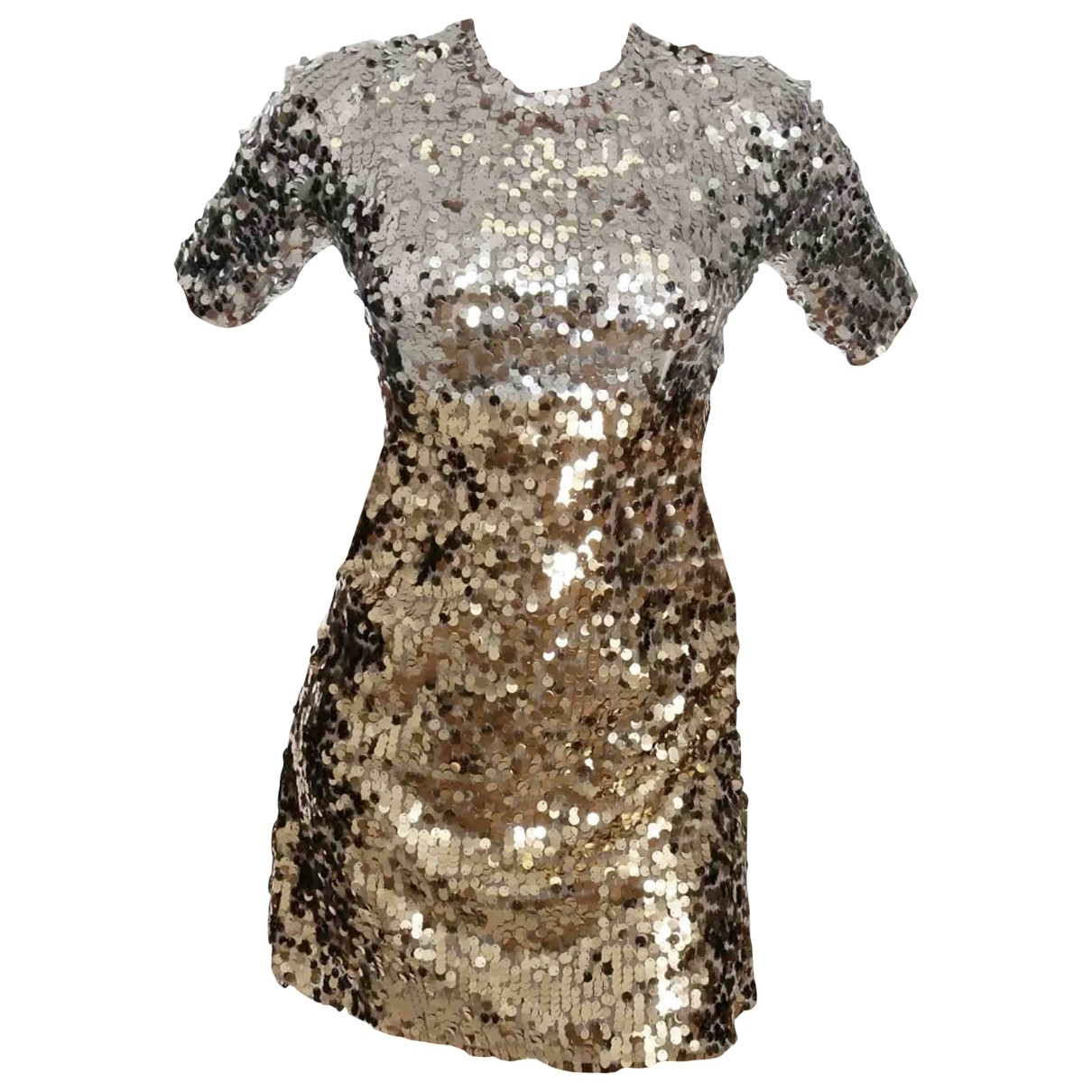 Dolce & Gabbana \N Kleid in  Silber Mit Pailletten