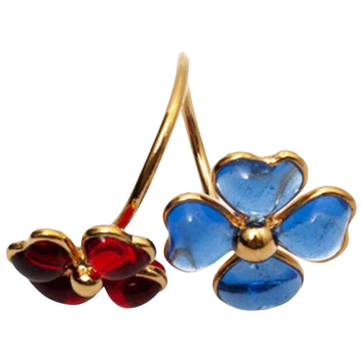 Marguerite De Valois - Bague   pour femme en verre - bleu