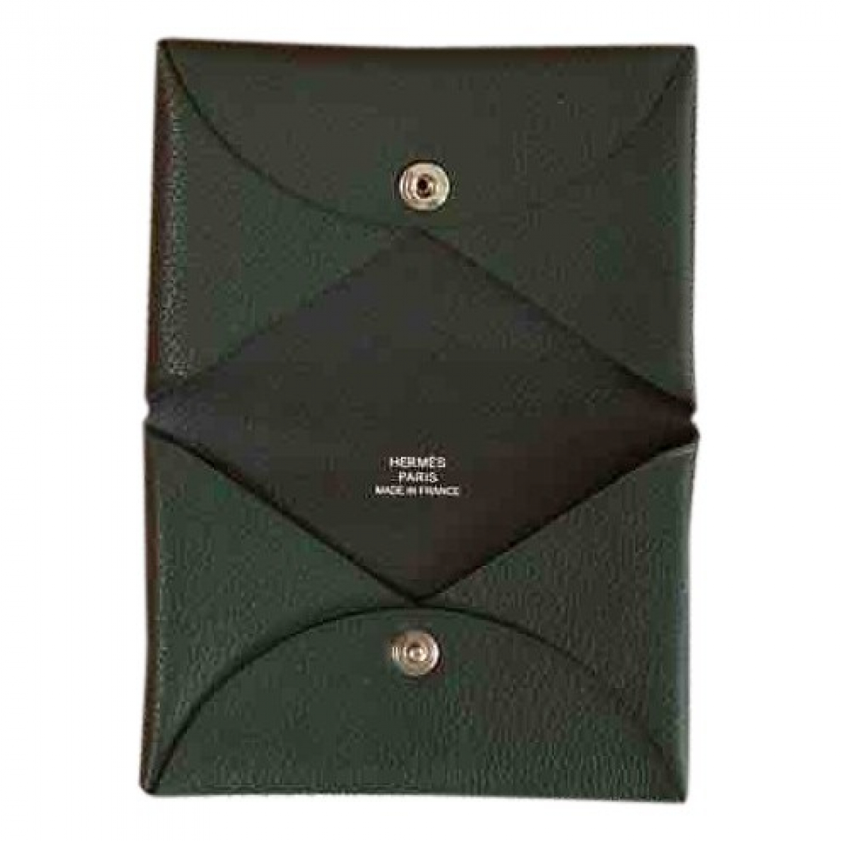 Hermès Calvi Green Leather Purses, wallet & cases for Women \N