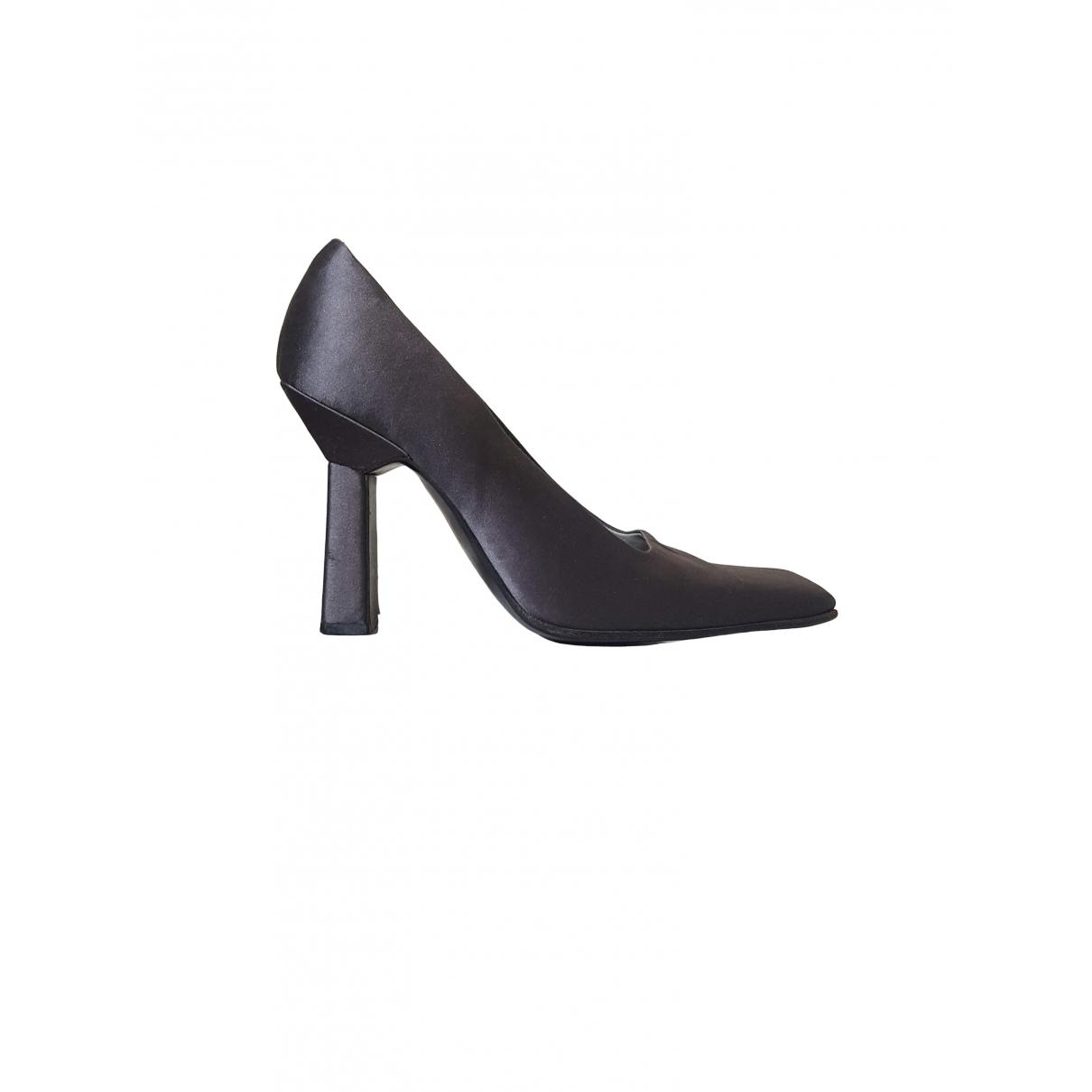 Prada \N Grey Leather Heels for Women 36.5 EU