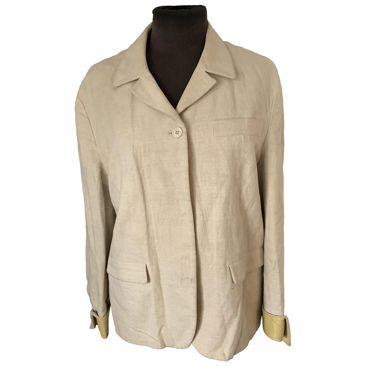 Prada - Veste   pour femme en lin - beige