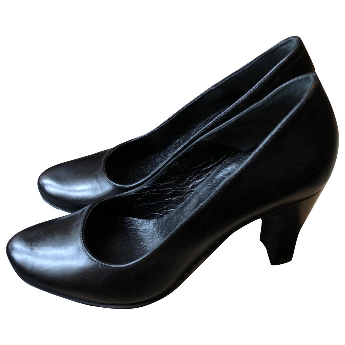 Anna - Escarpins   pour femme en cuir - noir