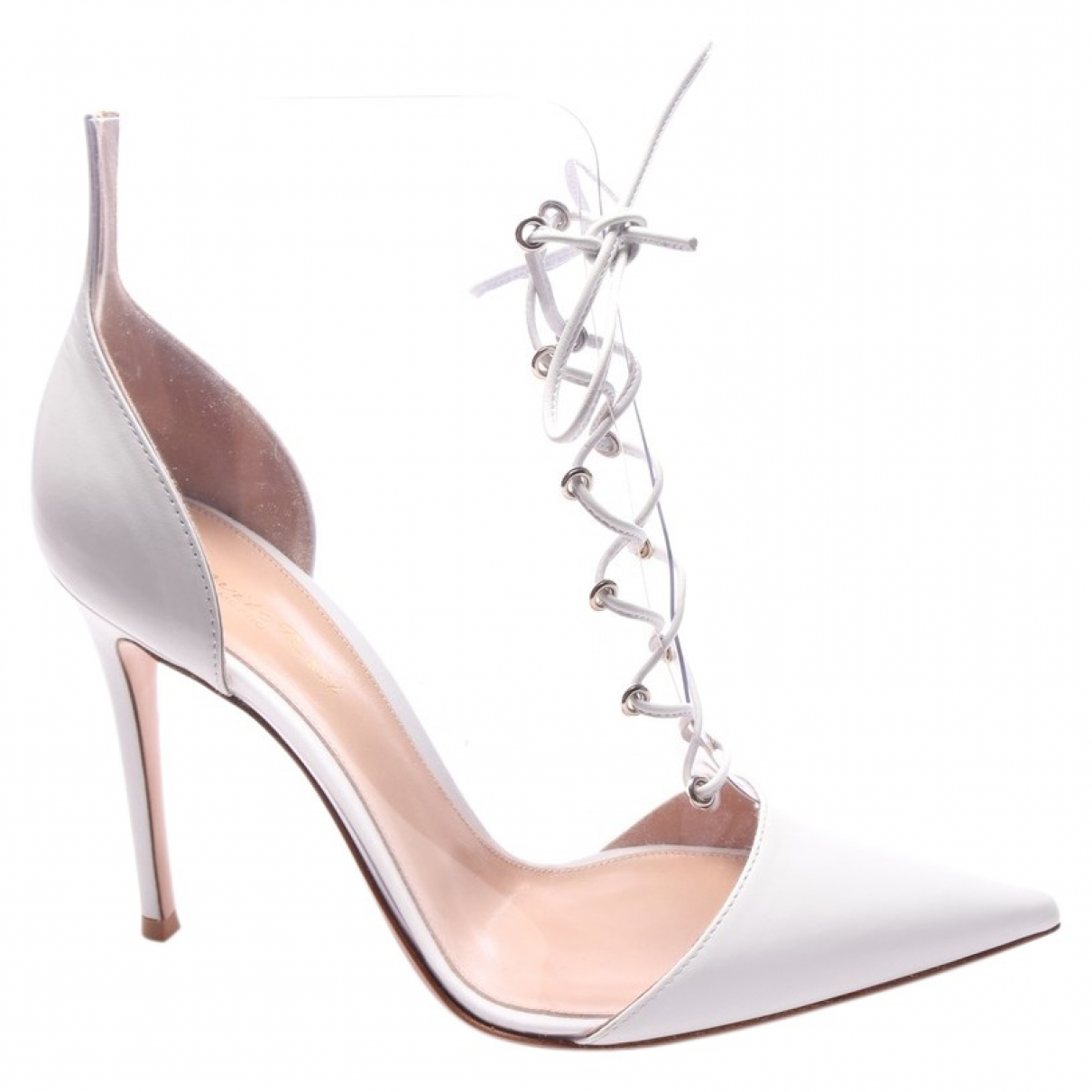 Gianvito Rossi \N White Leather Ankle boots for Women 39.5 EU