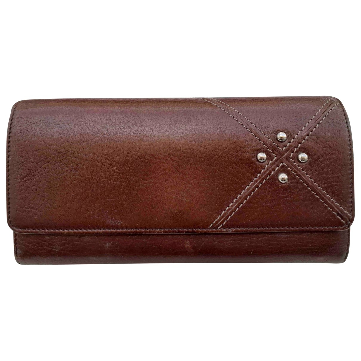 Tod's \N Brown Leather wallet for Women \N