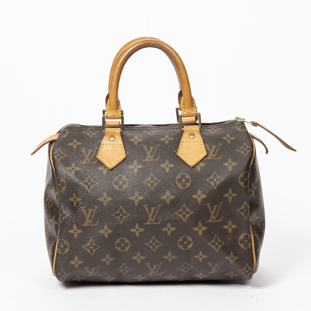 Louis Vuitton - Sac a main Speedy pour femme en coton - marron