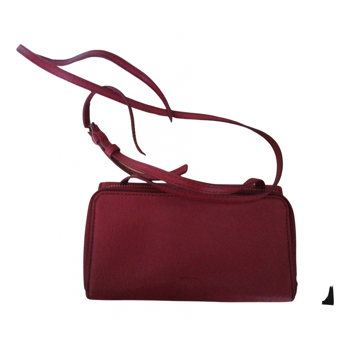 Fossil N Red Leather Clutch bag for Women N