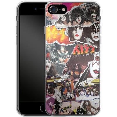 Apple iPhone 8 Silikon Handyhuelle - KISS Collage von KISS®