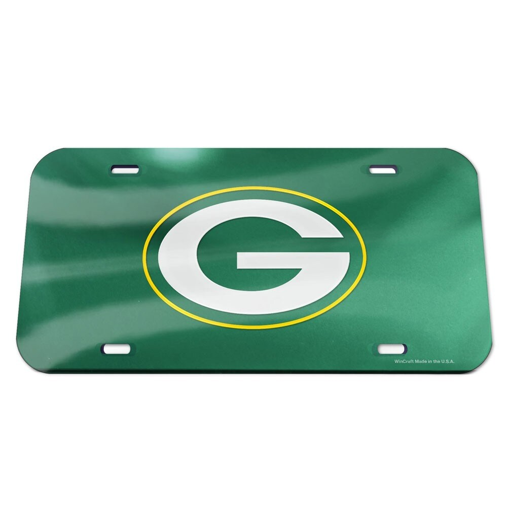 Green Bay Packers Crystal Mirror License Plate, Green (Multi)