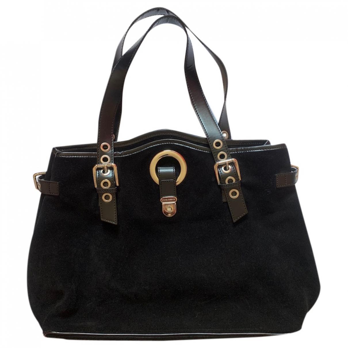 Dolce & Gabbana \N Handtasche in  Schwarz Veloursleder