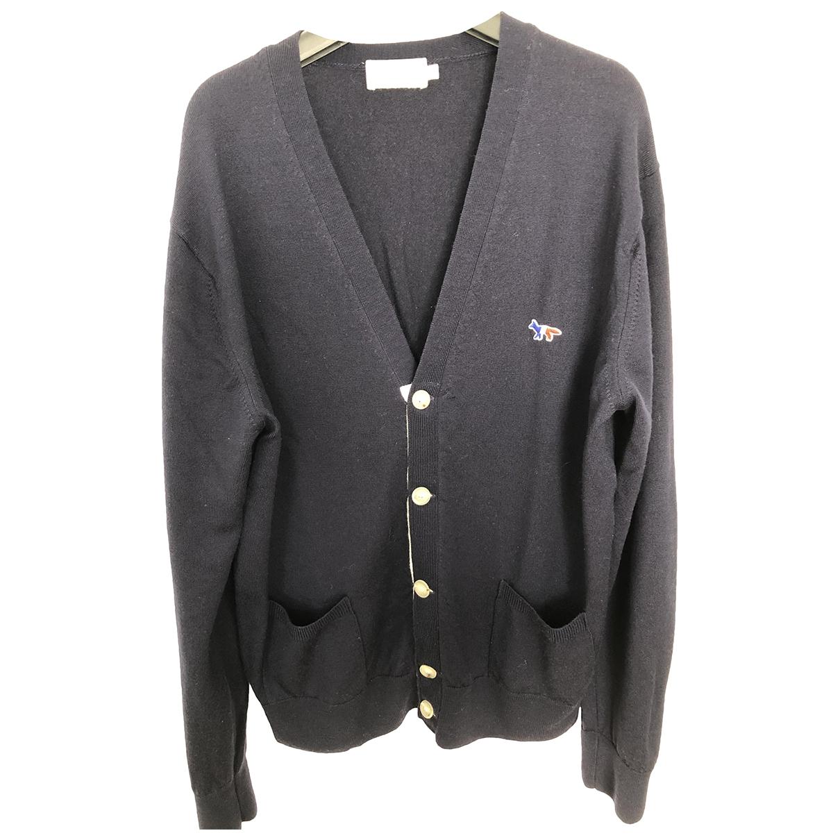 Maison Kitsune \N Pullover.Westen.Sweatshirts  in  Marine Wolle