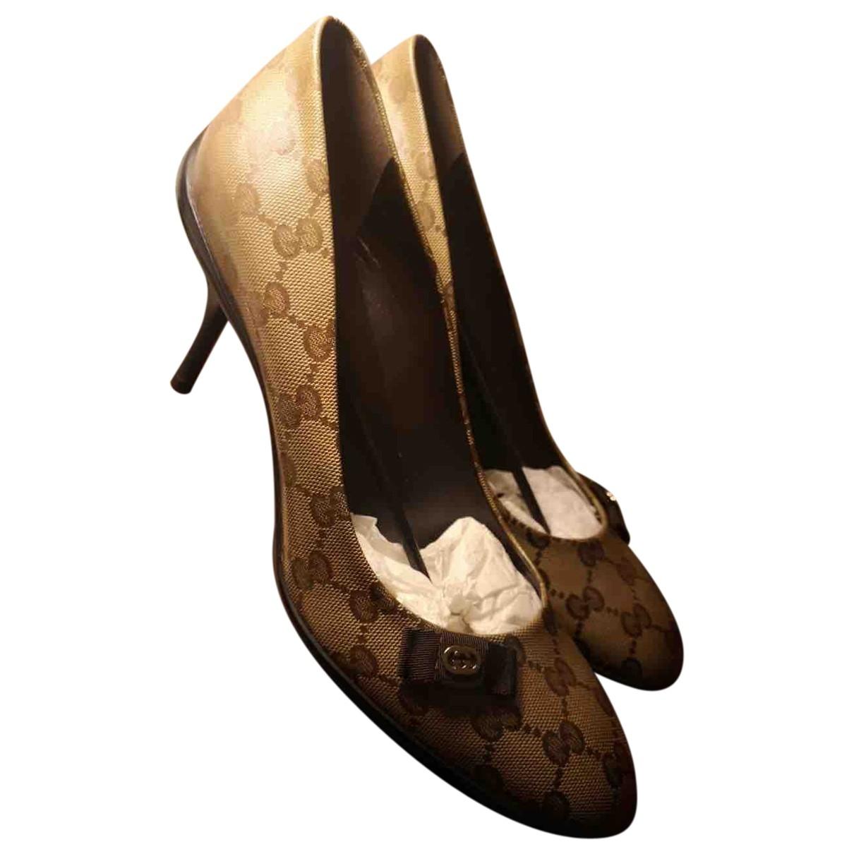 Gucci - Escarpins Sylvie pour femme en cuir - beige