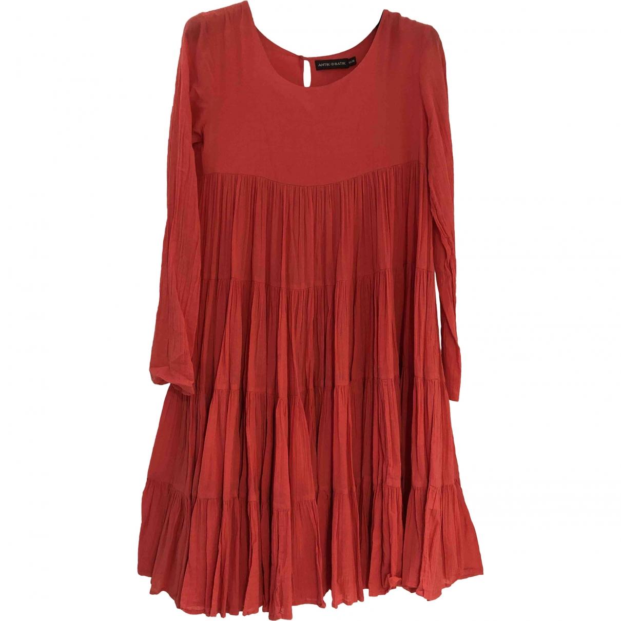 Antik Batik - Robe   pour femme en coton - rose