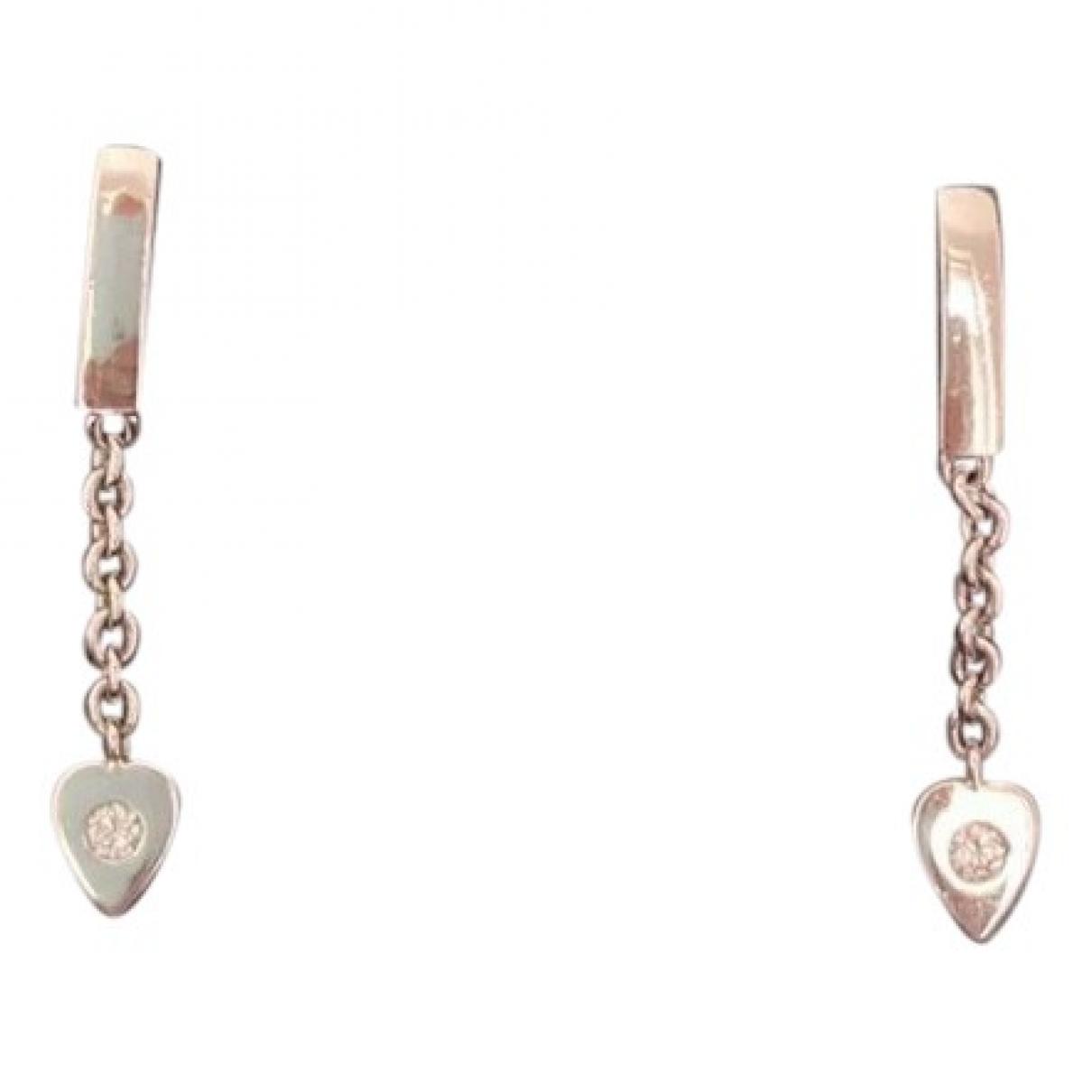 Cartier - Boucles d'oreilles   pour femme en or blanc - argente