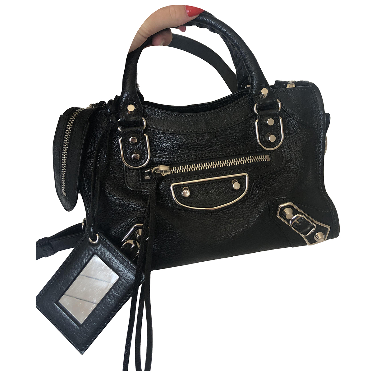 Balenciaga Classic Metalic Black Leather handbag for Women \N