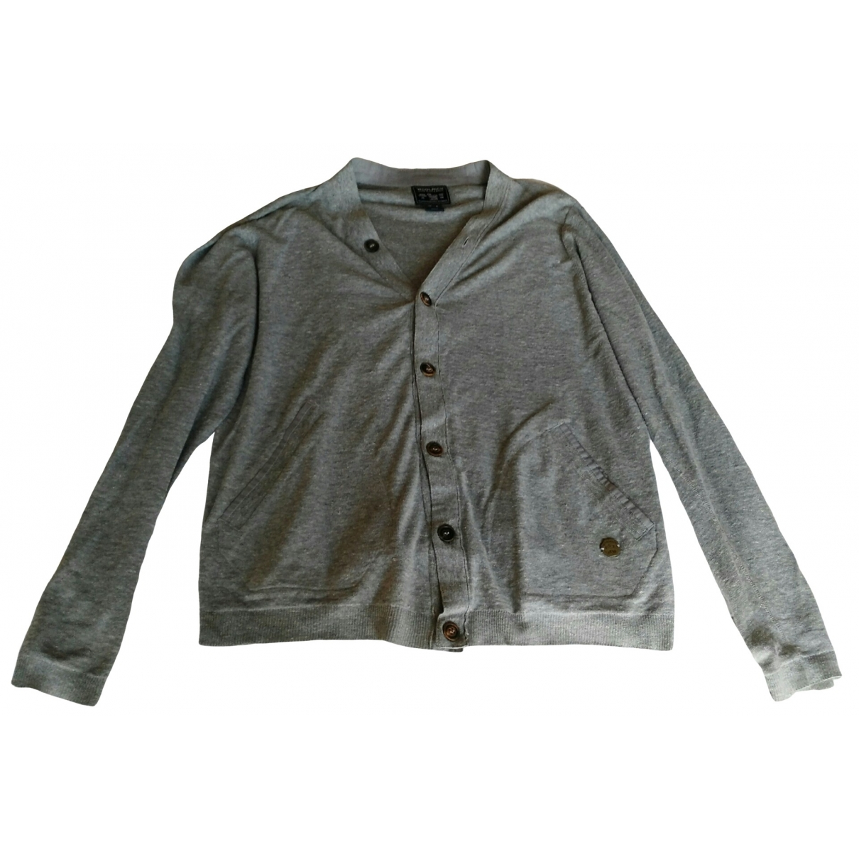 Woolrich \N Pullover.Westen.Sweatshirts  in  Grau Leinen