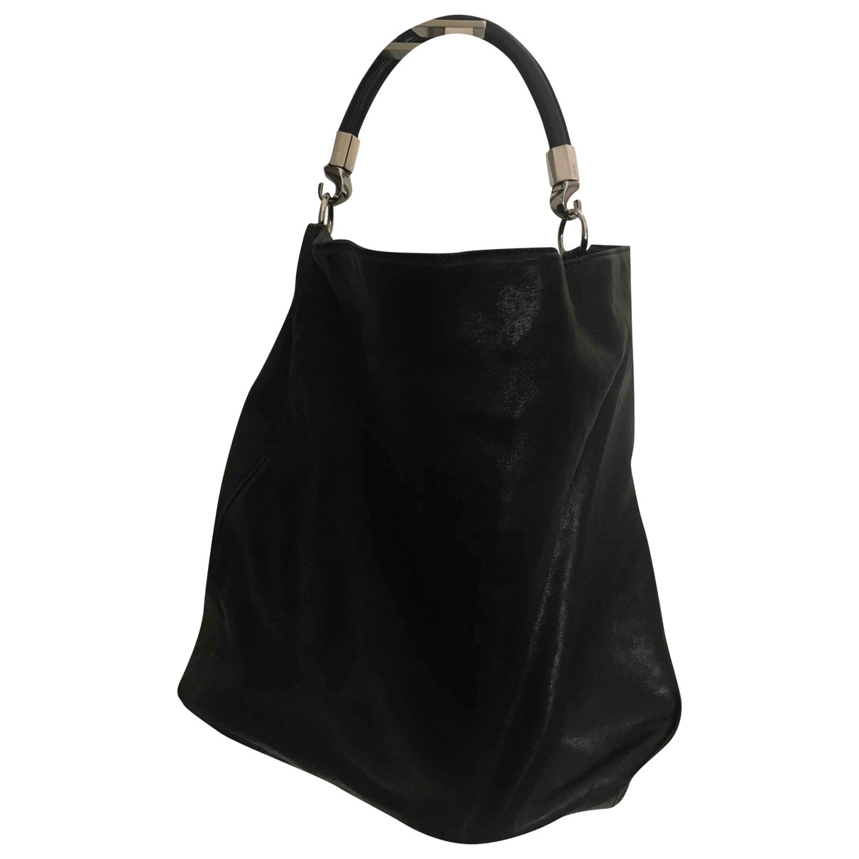 Yves Saint Laurent Roady Handtasche in  Schwarz Leder