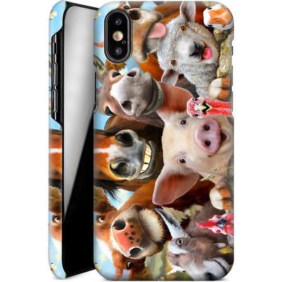 Apple iPhone X Smartphone Huelle - Farm Selfie von Howard Robinson