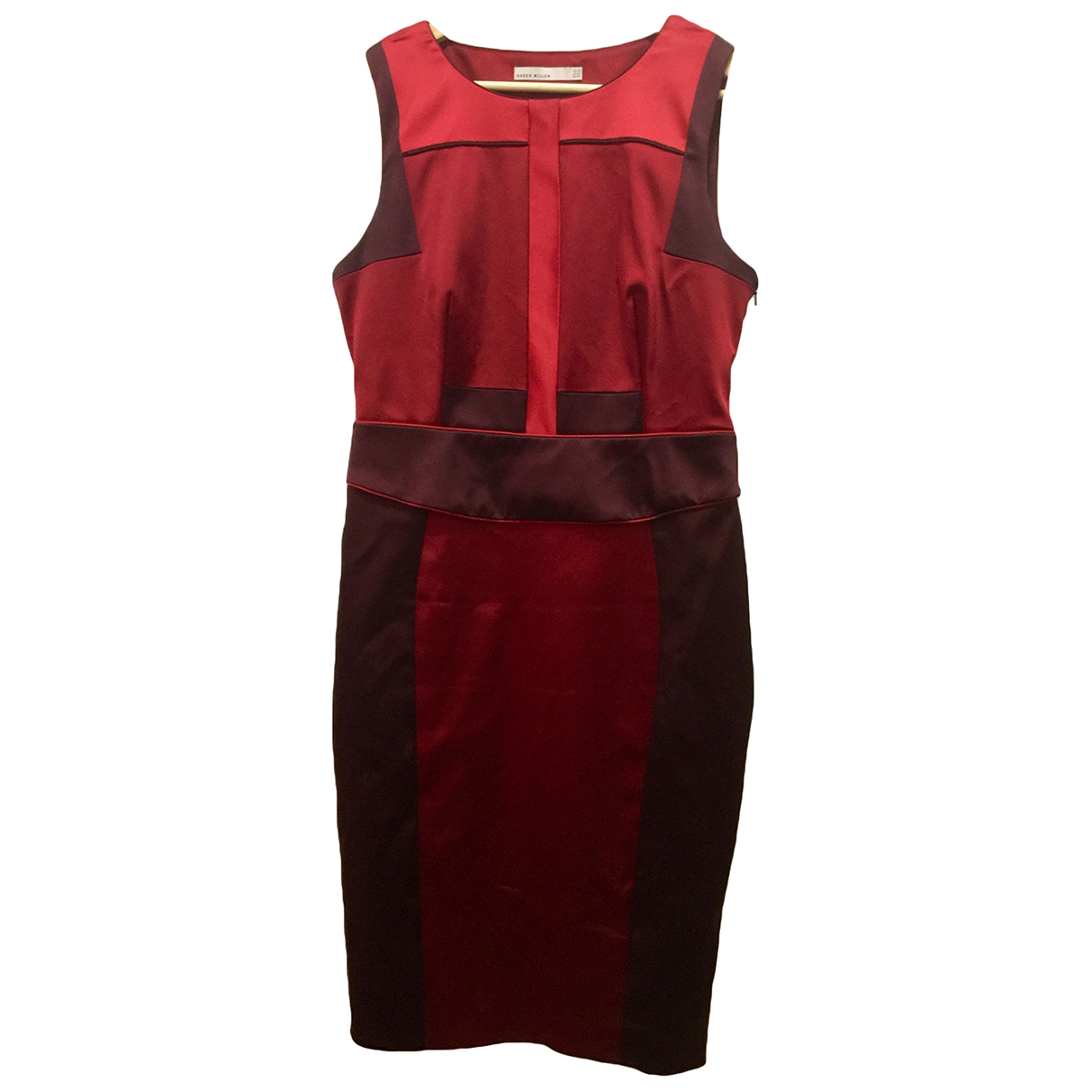 Karen Millen \N Red Cotton - elasthane dress for Women 16 UK