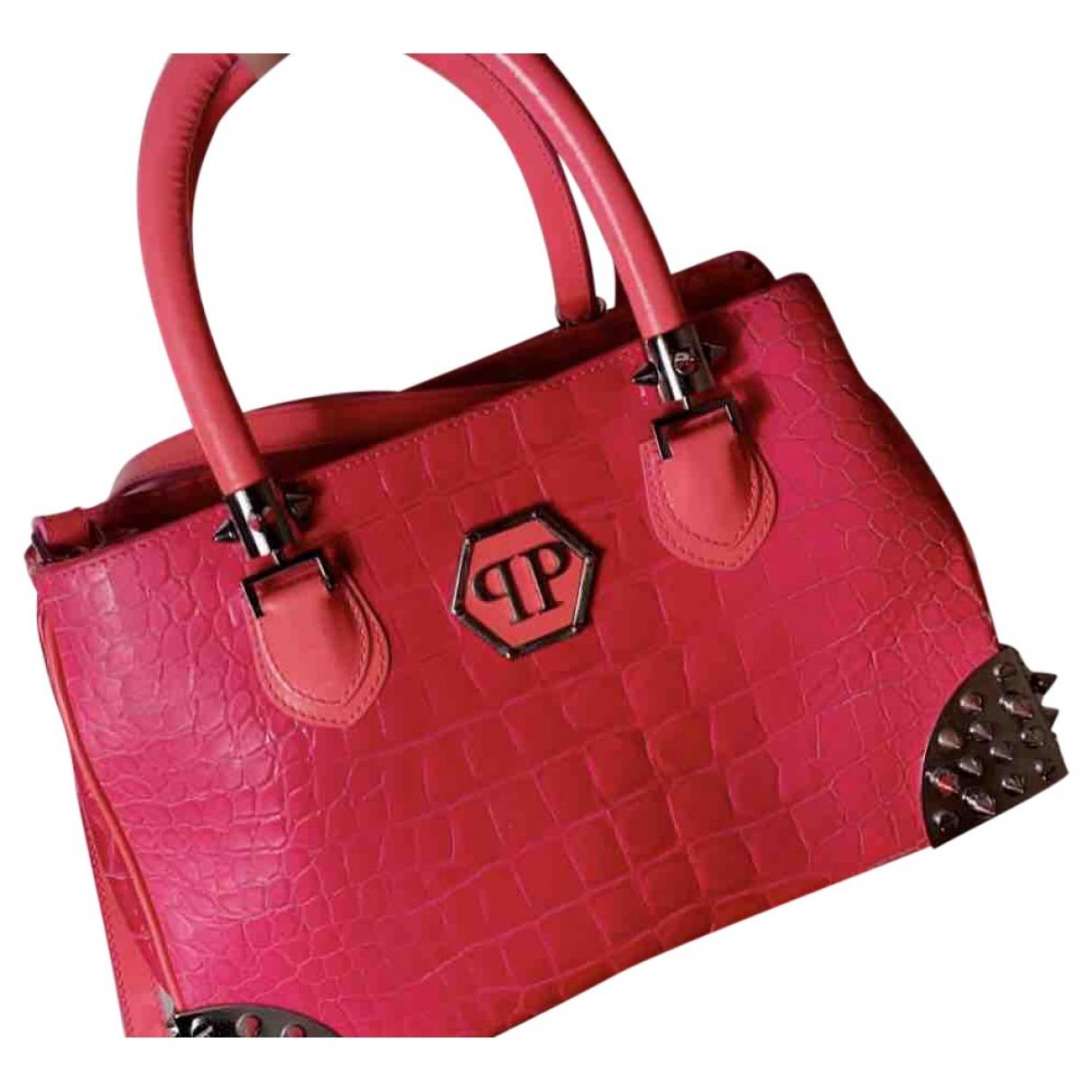 Philipp Plein \N Pink Patent leather handbag for Women \N