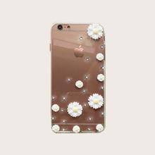 1pc Flower Decor iPhone Case