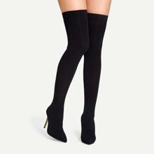 Thigh High Stiletto Sock Boots