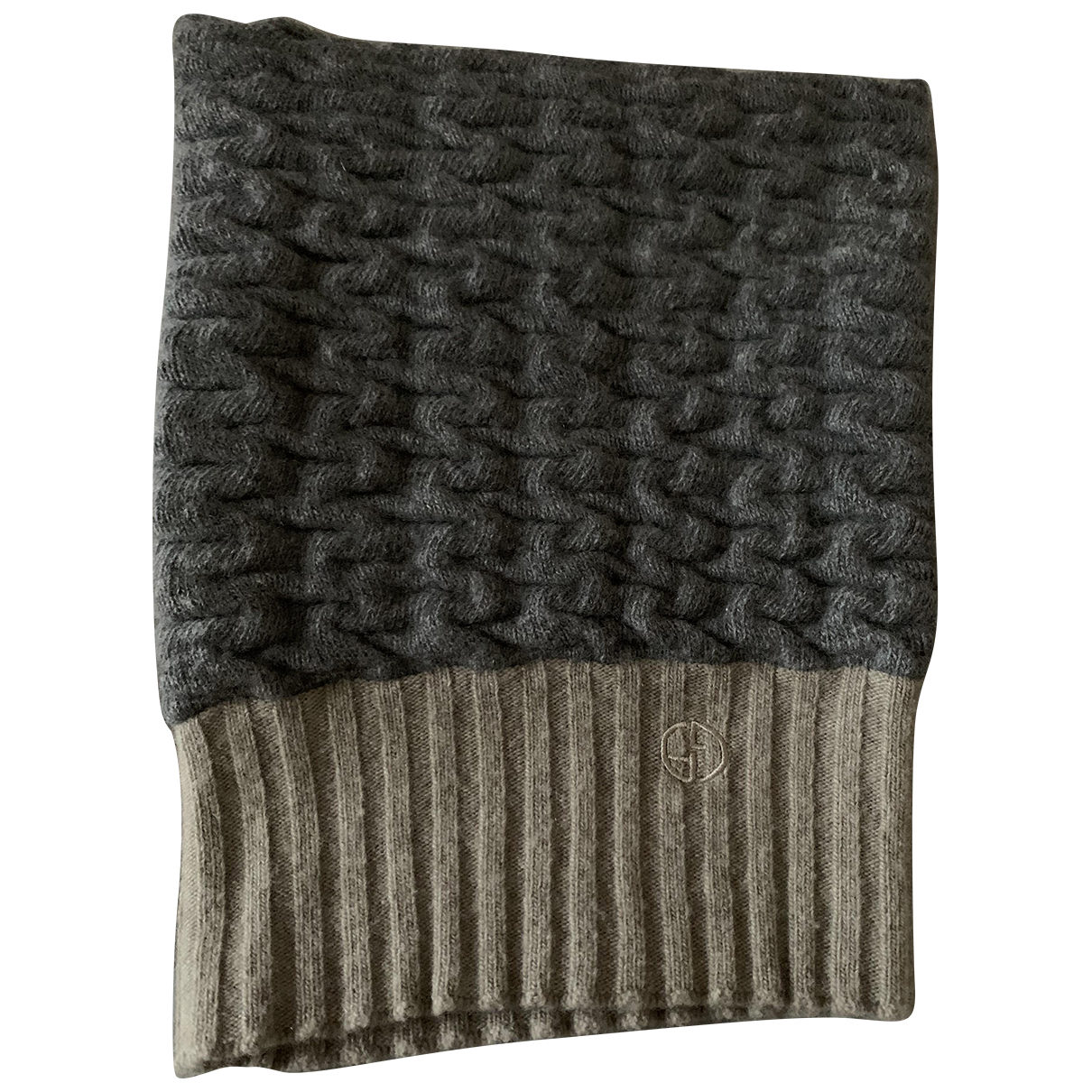 Giorgio Armani N Grey Cashmere scarf & pocket squares for Men N