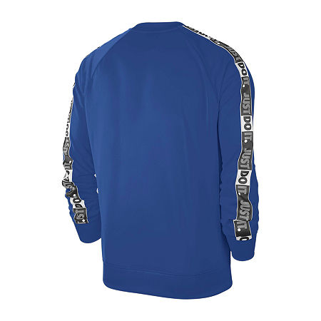 Nike Mens Crew Neck Long Sleeve Sweatshirt, Medium , Blue