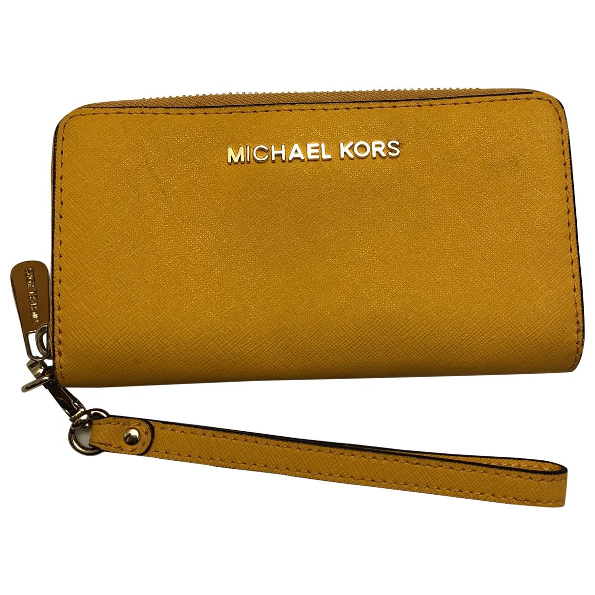 Michael Kors Jet Set Yellow Leather wallet for Women \N