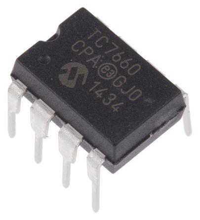Microchip TC7660CPA, Charge Pump 8-Pin, PDIP