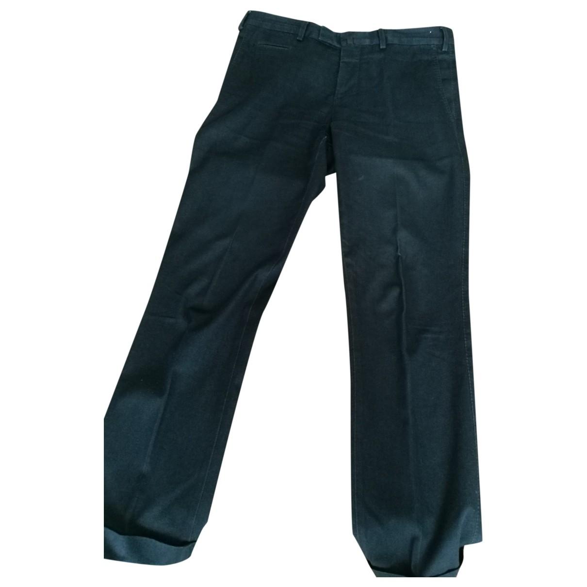 Pt01 \N Blue Cotton Trousers for Men 48 IT