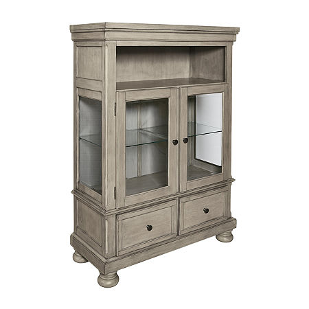 Signature Design by Ashley Lettner Collection Buffet Hutch, One Size , Brown