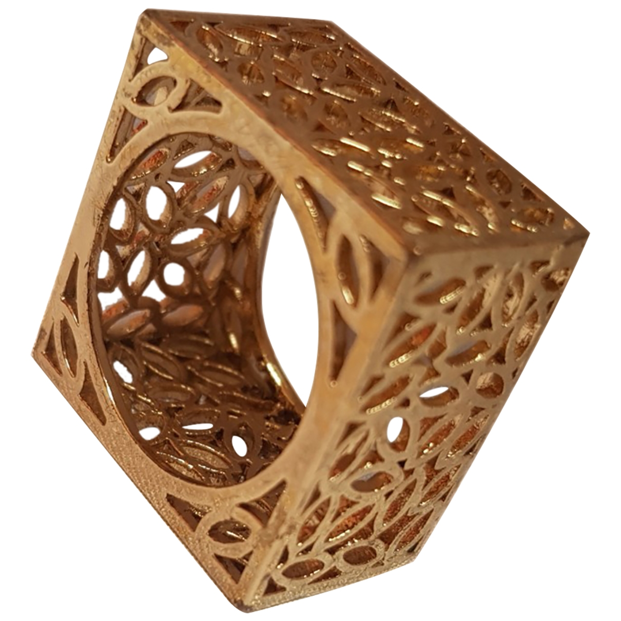Non Signe / Unsigned \N Ring in  Gold Stahl