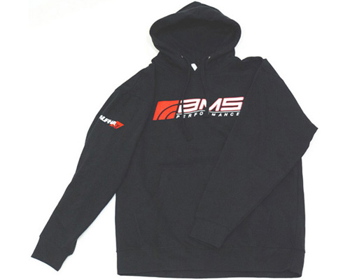 AMS Performance C2009-L Logo Men's Black Pullover Hoodie - Large